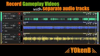Record gameplay videos with separate audio tracks: Game audio, Incoming & Outgoing voice comms.