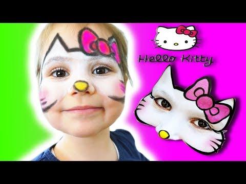 Hello Kitty Makyaji Yaptik Eylul Ile Yuz Boyama Egitici Cocuk