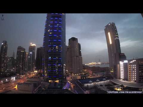 Путевые Заметки, ОАЭ, март 2020: Dubai Marina Timelapse – песчаная буря днем и ночная гроза  в Дубаи