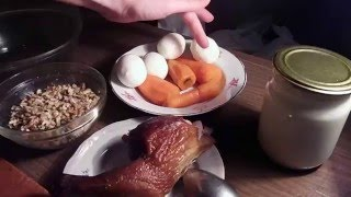 Очень Вкусный Рецепт Салата с Копченой Курицей. Генеральский из моркови.
