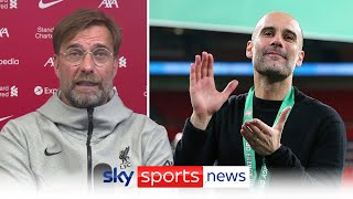 Jurgen Klopp calls Manchester City's Pep Guardiola the best manager in the world