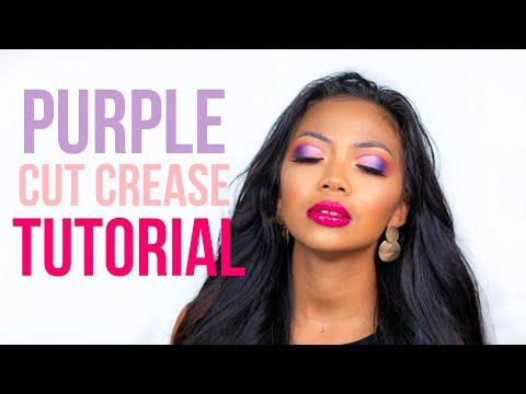 PURPLE CUT CREASE MAKEUP TUTORIAL | Summer Makeup thumbnail
