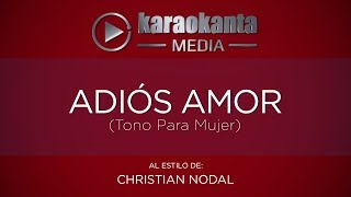 Karaokanta Christian Nodal Adiós amor