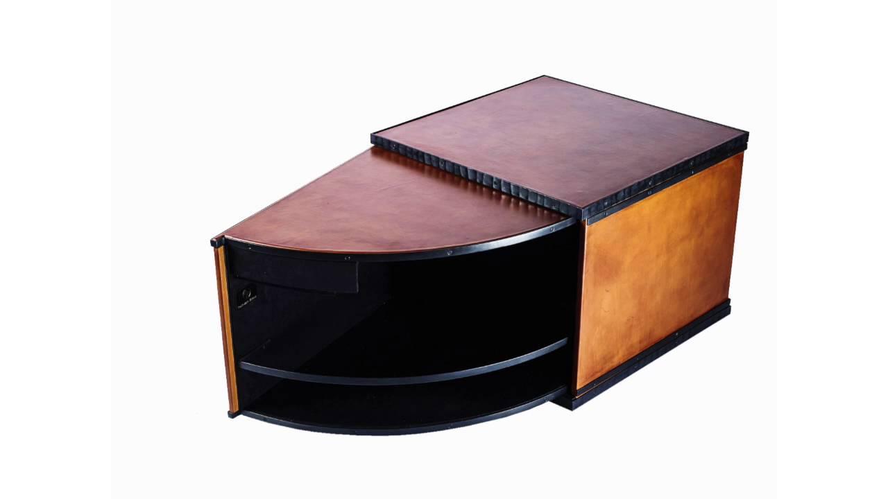 meuble table basse mini bar vulcain youtube. Black Bedroom Furniture Sets. Home Design Ideas