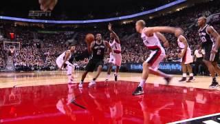 Spurs vs Blazers: Kawhi Leonard Throws Down a Vicious Dunk