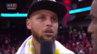 Stephen Curry Postgame Interview - Game 7 | Warriors vs Rockets | 2018 NBA West Finals
