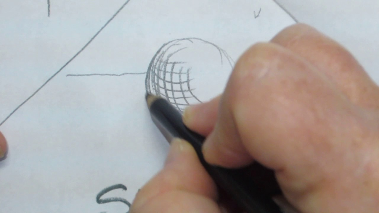 how to draw a sphere using cross hatching youtube
