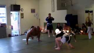 Sumo Practice with World Chapion Byamba Ulambayar
