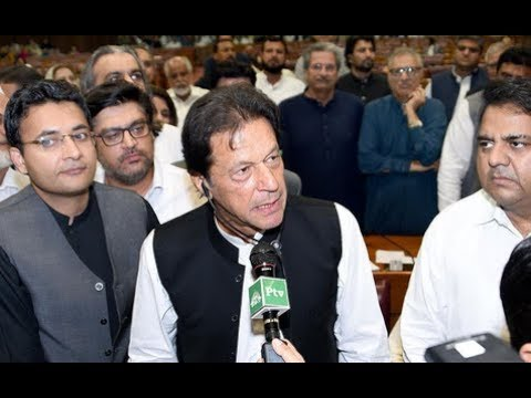 Moment Imran Khan elected Prime Minister of Pakistan
