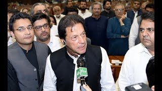 Moment Imran Khan elected Prime Minister of Pakistan