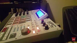 making a beat sampling vinyl on the mpc renaissance in the studio   hip hop rap beats