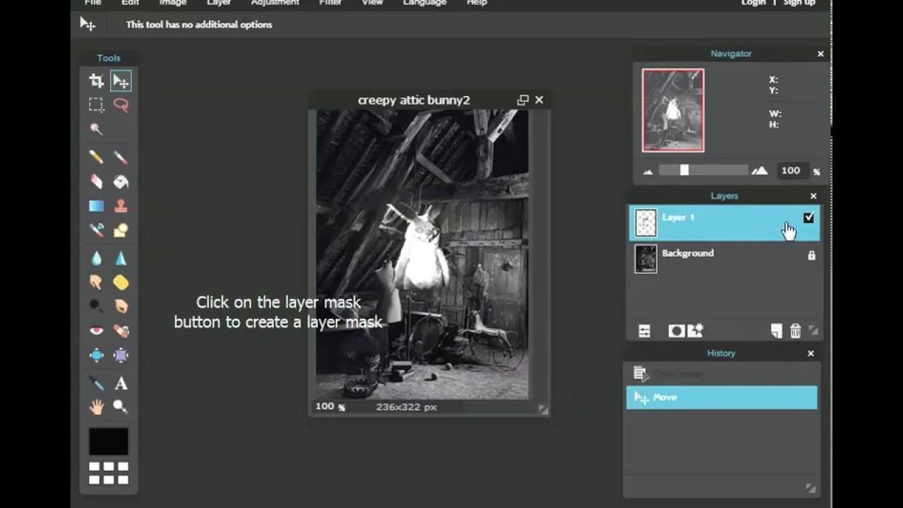 Pixlr Editor Tutorial Layer Masks Youtube