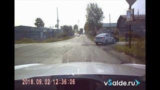66-летний водитель «классики» не пропустил иномарку. ДТП 02.09.2018 Верхняя Салда