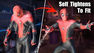 Real Spider-Man Self Tightening Suit! - Shrinks To Fit With Artificial Muscles!!