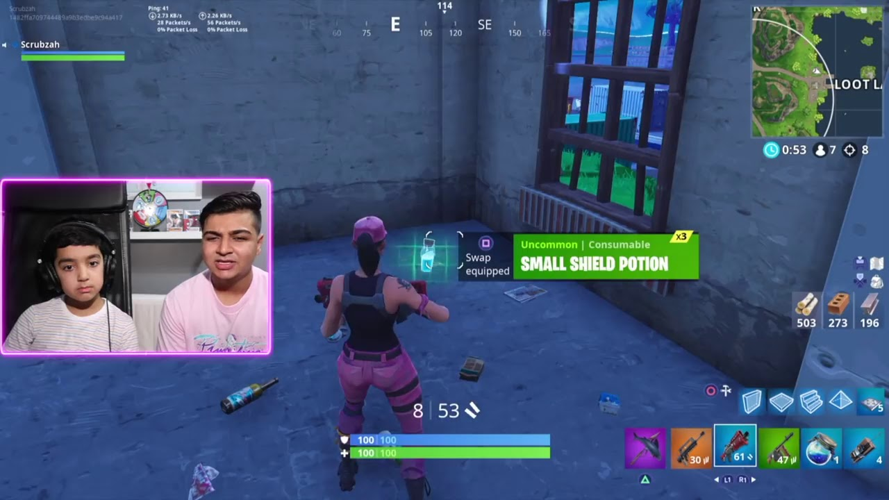 Scrubzah! VICTORY = EVERY SKIN IN FORTNITE FOR MY 6 YEAR OLD LITTLE  BROTHER! KID WINS EVERY SKIN IN