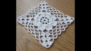 Çeyizlik Kare dantel motifi yapımı, \u0026 Çeyizlik tığişi, ortası güllü dantel motifi yapılışı