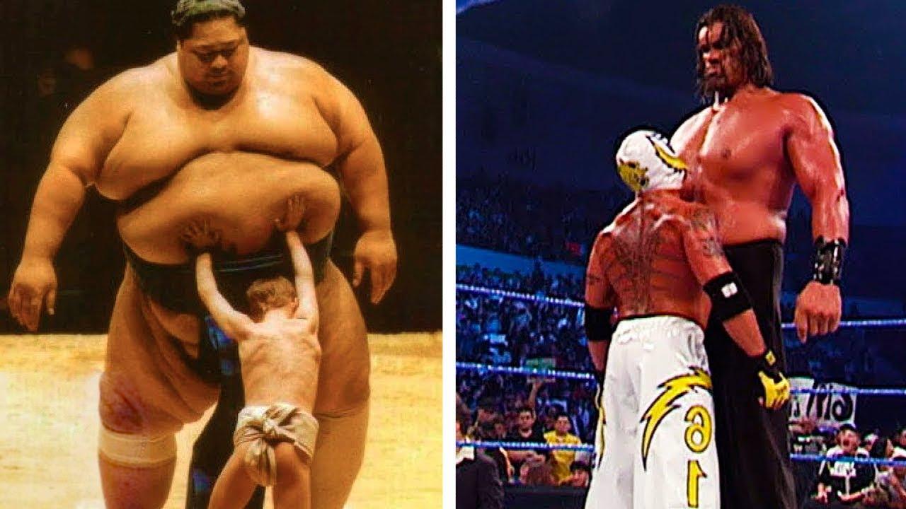 أكثر المواجهات الغير متكافئة في الرياضة لعمالقة ضد صغار الجسم !
