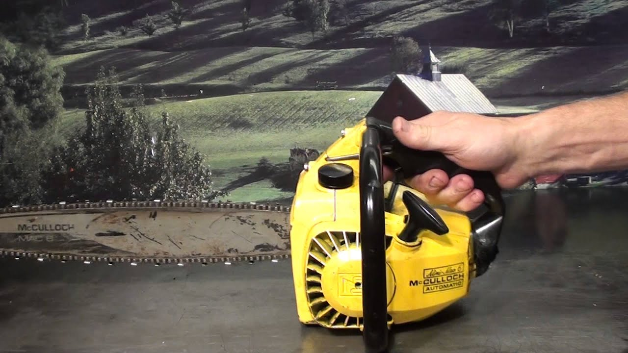 the chainsaw guy shop talk vintage mcculloch mini mac chainsaw 9 13 [ 1280 x 720 Pixel ]