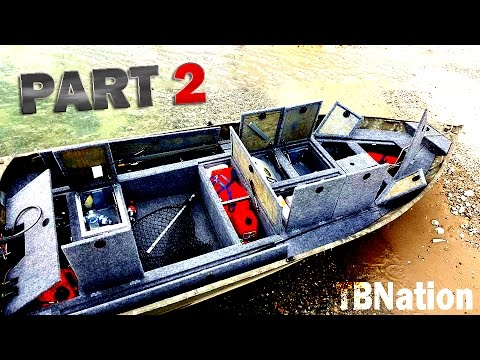 14ft Jon boat to Bass Boat PART 2 - Build Specifics (V- Hull mod ...