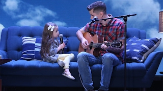 adorable singing father daughter duo performs youve got a friend in me
