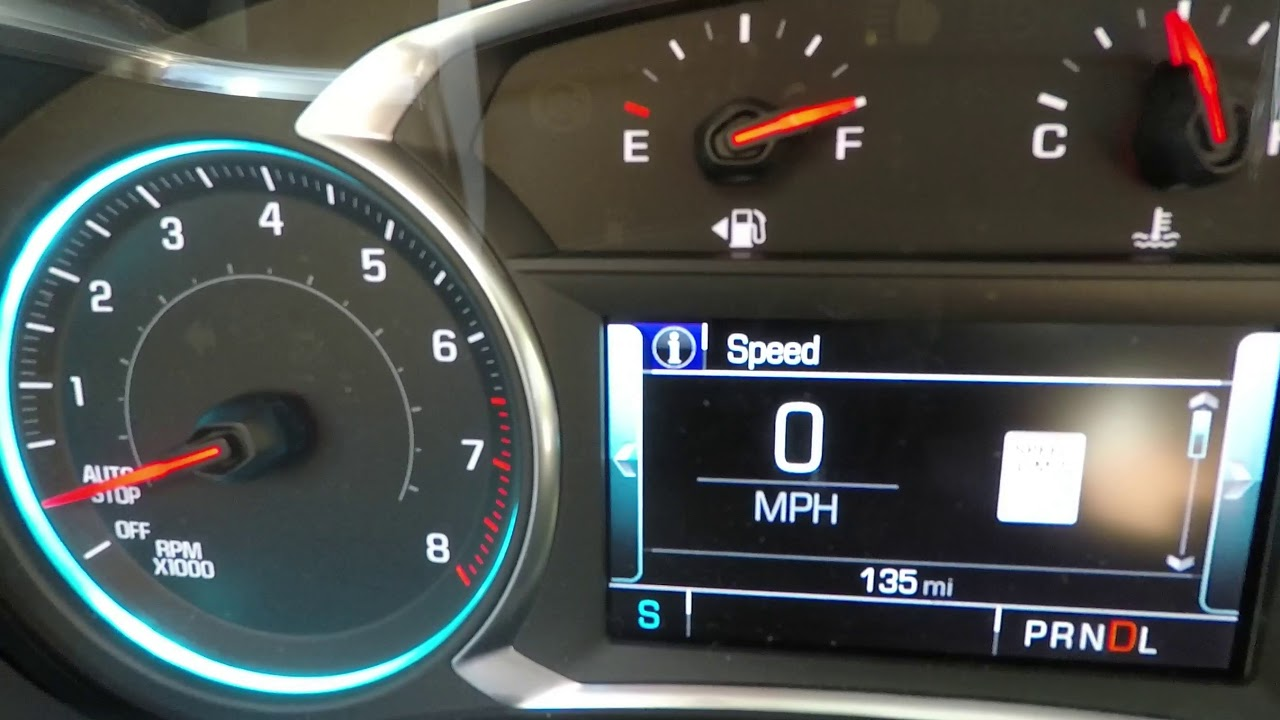 2018 Traverse 3 6 V6 0-60, Disabling Auto Stop, Following Distance Screen