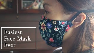 EASIEST EVER 3D Face Mask Sewing Tutorial DIY Mask With Head Strap Ear Pain Prevent