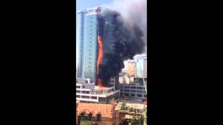 Одесса Гагарин Плаза горит 29.08.2015 Odessa Gagarin Plaza lit 29.08.2015
