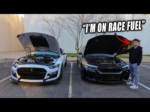 COCKY 17 YEAR OLD THINKS HIS 800HP BMW M5 CAN BEAT A 2020 MUSTANG GT500!
