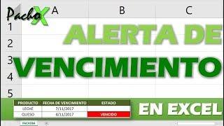 Cómo crear una ALERTA DE VENCIMIENTO para tu inventario en Excel