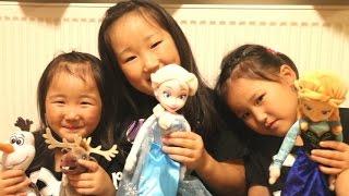 イギリスからエルサ到着!で三姉妹的アナと雪の女王集結! thumbnail