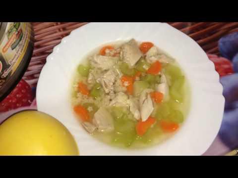 Диетический суп с куриной грудкой в мультиварке