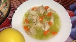 Как приготовить легкий диетическй суп с курицей в мультиварке