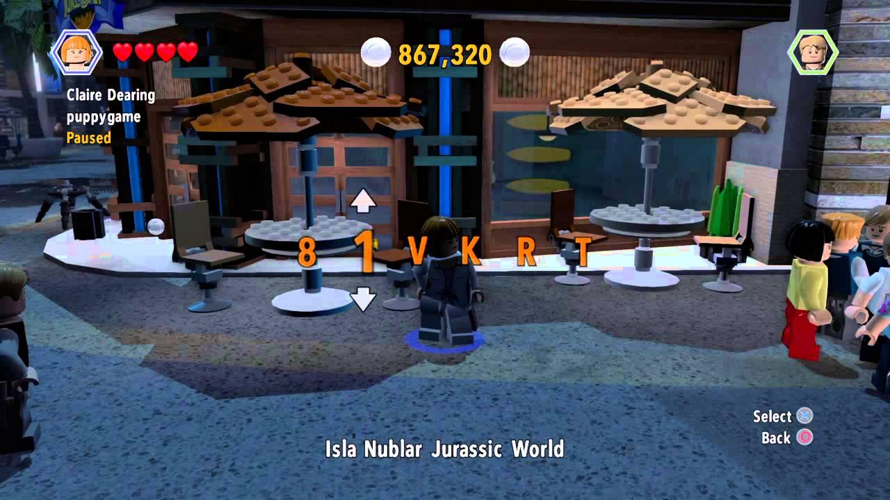 lego jurassic world  2 free character cheats  youtube