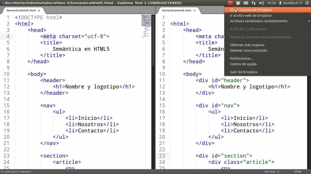 Desarrollo Web Con Html5 2 Estructura Basica De Un Sitio Web 1 2