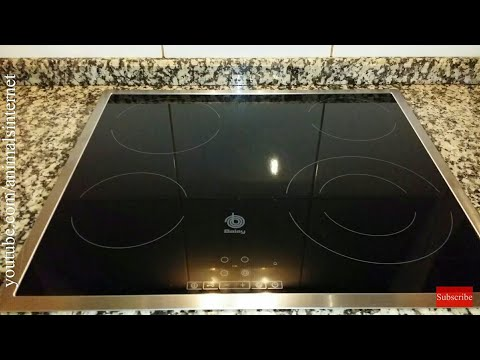 How to use Balay (Bosch Siemens) electric glass ceramic cooktop SCHOTT CERAN 9000747627 3EB721XR. 4K