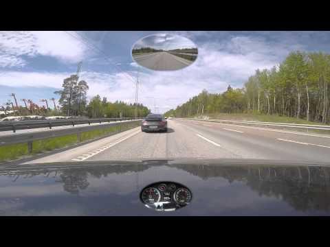 Audi RS3 chasing Porsche 996 Turbo E18 Gumball 2015