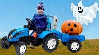 Малыш и Привидение не поделили тыкву. История на Хэллоуин для детей