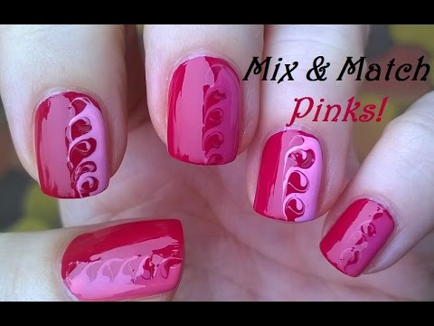 Mix match pink nails toothpick nail art tutorial 10 youtube mix match pink nails toothpick nail art tutorial 10 prinsesfo Gallery