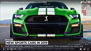 All-New Sports Cars to Be Excited About in 2019-2020