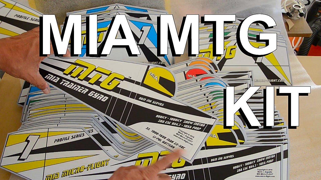 RC Autogyro - MIA MTG Trainer Gyrocopter Kit Intro