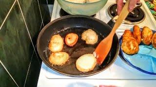 Оладьи на дрожжах и воде! Вкусный простой рецепт приготовления!