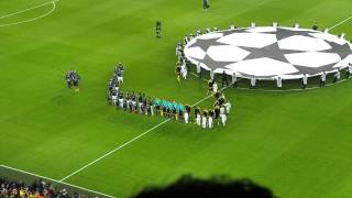 Champions League Hymne + Einlaufen -- Borussia Dortmund - Real Madrid 4:1 (1:1) -- 24.04.2013