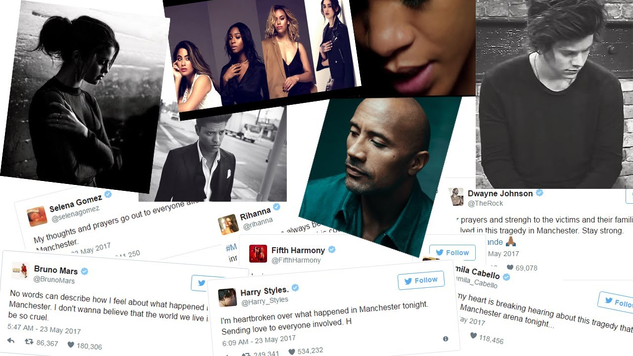 Celebrity Reactions to Ariana Grande Concert Terror Attack | Celeb Reacts to Explosion in Manchester