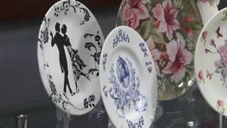 Decoupagem craquelê em prato – Rosa Cancian