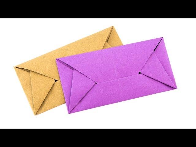 Easy Origami Envelope Letterfold Tutorial - (Simon Andersen) Paper Kawaii