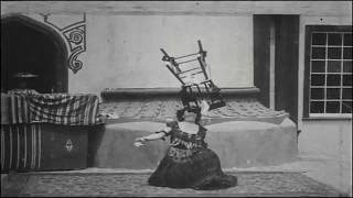 Amazing Woman Dancing & Swings Chair With Her Teeth
