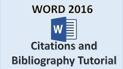 Word 2016 - Create Citation and Bibliography How to Tutorial in Microsoft Office 365 with Windows 10