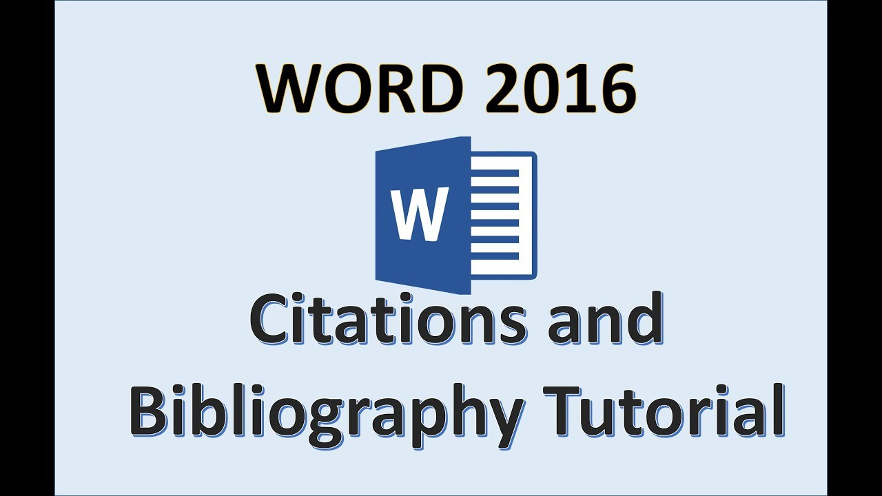 hight resolution of Word 2016 - Bibliography References and Citation - How to Add Insert Make a  Reference in Microsoft - YouTube