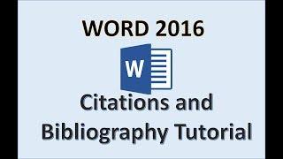 Mot 2016 - Créer des Citations et de la Bibliographie Façon de Tutoriel dans Microsoft Office 365 avec Windows 10