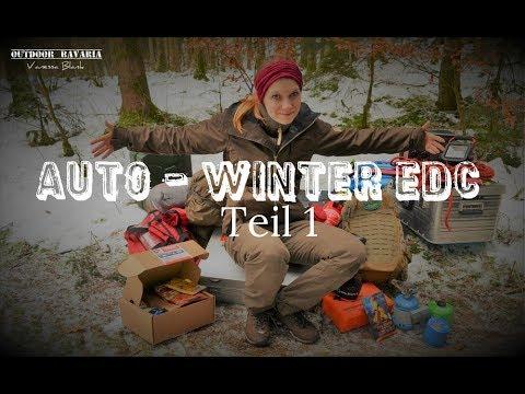 Mein Winter Auto EDC ✔ Notvorsorge und Ausrüstung - Teil 1 - Vanessa Blank -Outdoor Bavaria -4K -